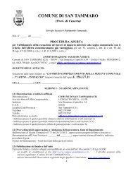 Bando procedura aperta -piscina 3°.pdf - Comune di San Tammaro