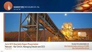 Sandfire June Quarterly Report Presentation - Sandfire Resources