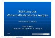 Wirtschaftsstandort Aargau - Rudolf Hug