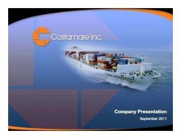 Company Presentation Co pa y ese tato - Capital Link Shipping