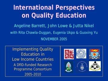 QUALITY EDUCATION is … - EdQual
