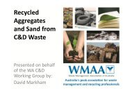 Recycled Aggregates and Sand from C&D Waste - Civil Contractors ...