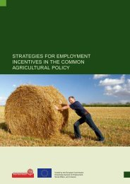 strategies for employment incentives in the common agricultural policy