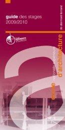 le stage non-obligatoire - Ecole Nationale Supérieure d'Architecture ...