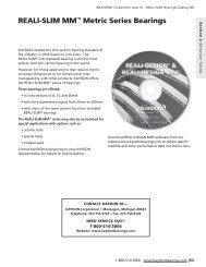 Reali-Slim mm™ metric Series Bearings - Kaydon Bearings