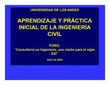 APRENDIZAJE Y PRÁCTICA INICIAL DE LA INGENIERÍA INICIAL ...