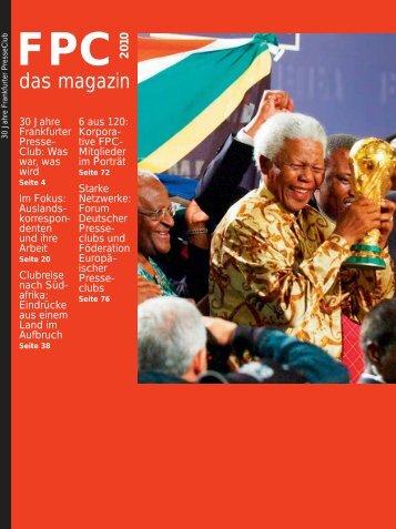 das magazin 2010 - Frankfurter Presse Club
