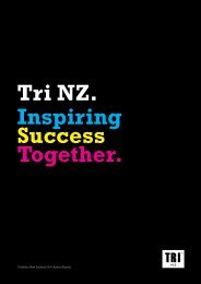 to view the 2010 Annual Report - Triathlon New Zealand