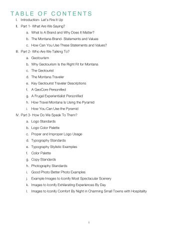 Montana Brand Book 2: Activation (DRAFT) - Montana Office of ...