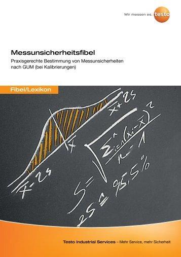 Messunsicherheitsfibel - Testo Industrial Services GmbH