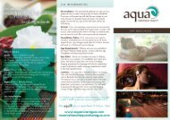 Spa Menu PDF - Aqua Nicaragua