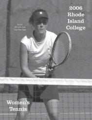 2006 Rhode Island College Women's Tennis