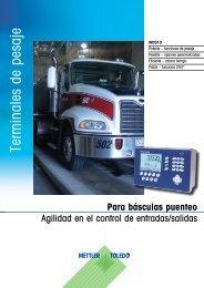 Terminales de pesaje - METTLER TOLEDO