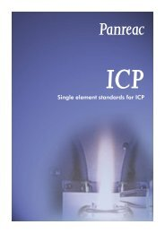Single element standards for ICP