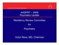 2008 AADPRT Presentation - acgme