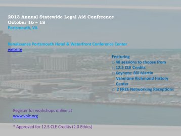 annual conference brochure - Virginia Poverty Law Center