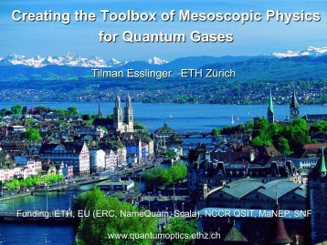 Creating the Toolbox of Mesoscopic Physics for Quantum Gases - ifraf