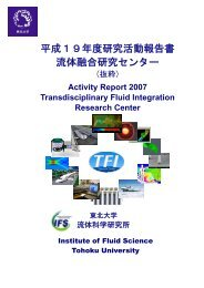 平成19年度研究活動報告書 流体融合研究センター - 東北大学 流体 ...