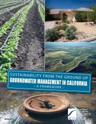 A Framework for Groundwater Management in California