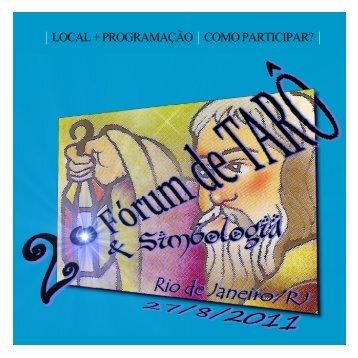 2º Fórum Nacional de Tarô e Simbologia - Academia Virtual de ...