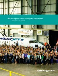 Revue de la croissance éclairée 2011 - WestJet