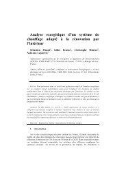 Analyse exergétique et optimisation d'un système de chauffage ...