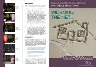 Annual Conference Report 2009 - Glasgow Homelessness Network
