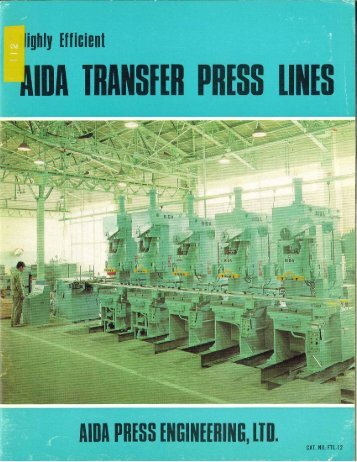 Adia Transfer Press Lines Brochure - Sterling Machinery