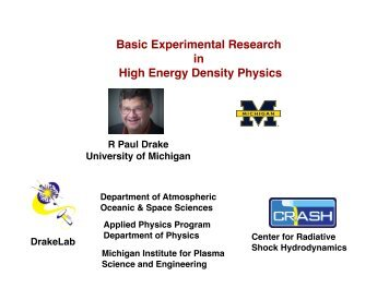 Basic Experimental Research in High Energy Density Physics