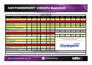 27/28 April 2013 - Donington Park National Timetable ... - MSV Racing