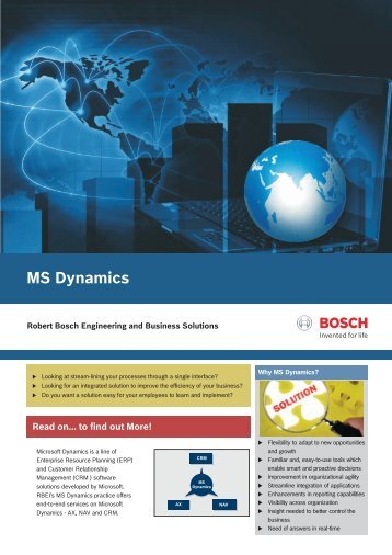 MS Dynamics - Robert Bosch Engineering and Business Solutions ...