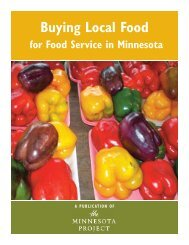 Buying Local Food - The Minnesota Project