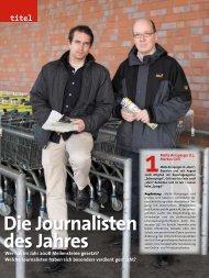 Die Journalisten des Jahres - Medium Magazin