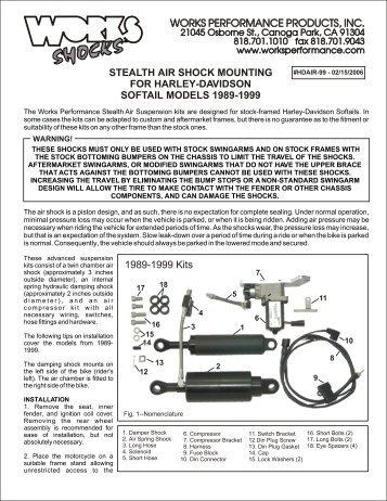 Harley-Davidson 1989-1999 Stealth-Air Softail ... - Works Shocks
