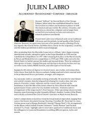 Julien Labro Biography (pdf)