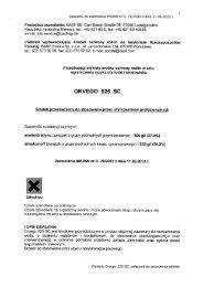 Etykieta Orvego - BASF Polska