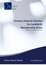 Tenancy Deposit Scheme for Landlords Membership Rules