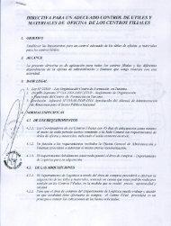 Directiva para un adecuado control de utiles y materiales ... - Cenfotur