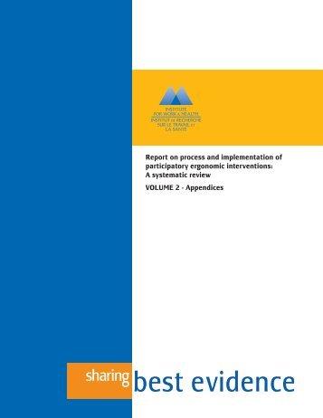 Volume 2 - Institute for Work & Health