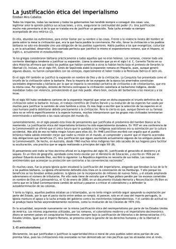 La justificación ética del imperialismo - Indymedia Argentina