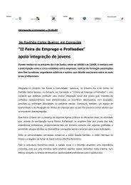 Comunicado de Imprensa - Câmara Municipal de Oeiras