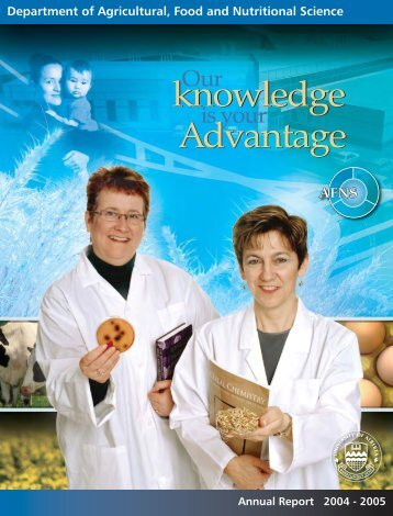 Annual Report 2004 - Agricultural, Food & Nutritional Science