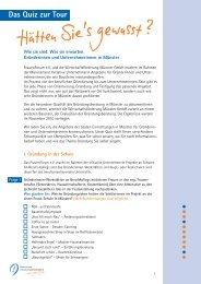 Das Quiz zur Tour - Frauen-Forum Münster