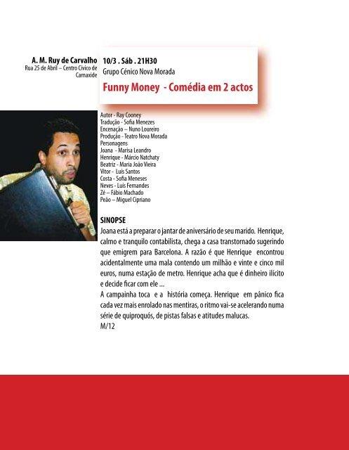 Mostra de Teatro Amador do Concelho de Oeiras - Câmara ...