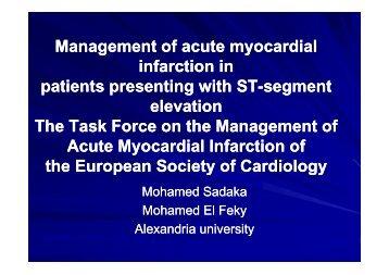 Management of acute myocardial Management of acute myocardial ...
