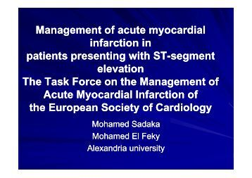 Management of acute myocardial Management of acute myocardial ...