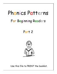 Phonics Patterns 2 (To Print) - Sound City Reading