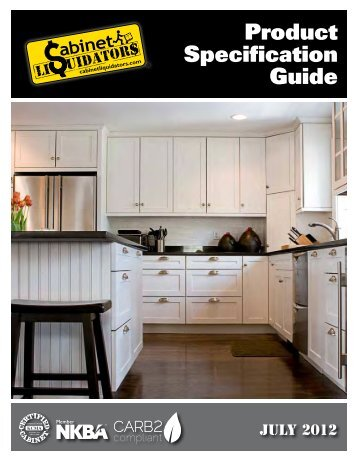 Product Specification Guide - CLkitchens.com