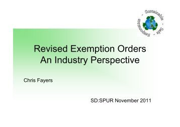Chris Fayers (Magnox Ltd) - Revised Exemption Orders - Safegrounds