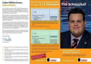 Tim Schmuckall - CDU-Altona/Elbvororte